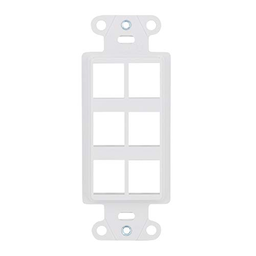 Legrand/ On-Q WP3416WH 6 Port Decorator Outlet Strap, White ()