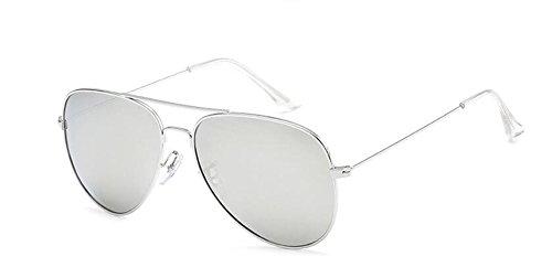 Mercure Blanc métallique lunettes du style polarisées Lennon de en rond inspirées cercle vintage retro soleil PgqwR6wyOr