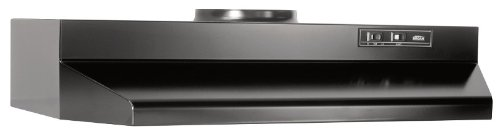 Broan Convertible Range Hood Insert with Light, Exhaust Fan for Under Cabinet, Black, 6.0 Sones, 190 CFM, 30