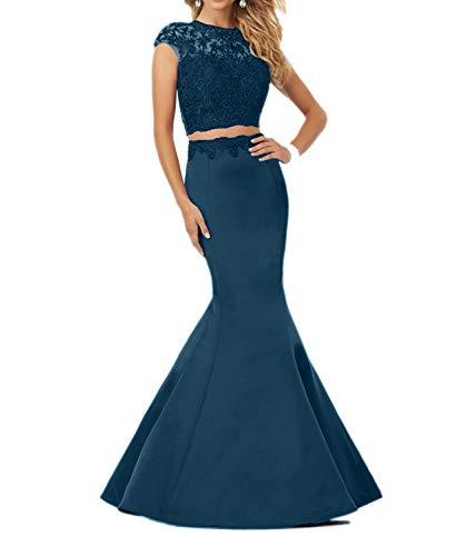 Lang Meerjungfrau La Partykleider Navy Festlich Ballkleider Abendkleider Dunkel Blau Blau Spitze Damen Marie Braut xw6qFPXwaB