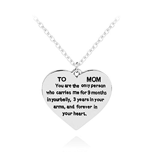 Gifts for Mom Women to Mom You are The Only Person Mom Heart Pendant Necklace Mom Gifts Charm Fashion Chain Necklace Gifts for Mother from Son Daugter