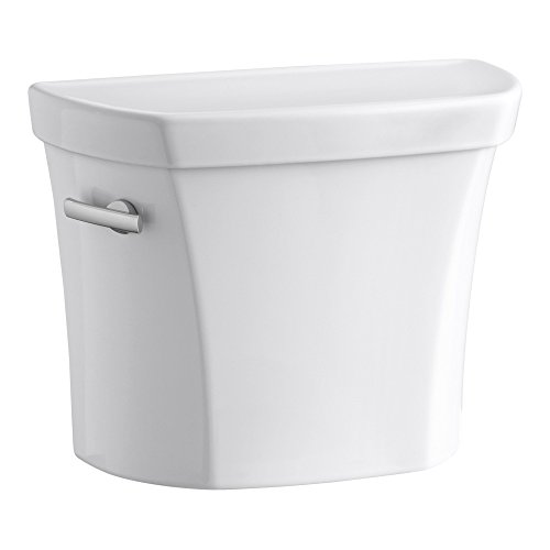 (KOHLER K-5311-0 Wellworth 1.28 GPF Toilet Tank for Concealed Trapway Bowl with Left-Hand Trip Lever, White,)