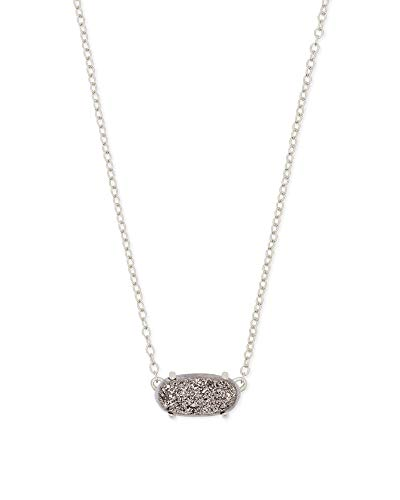Kendra Scott Ever Pendant Necklace in Drusy, Rhodium Plated