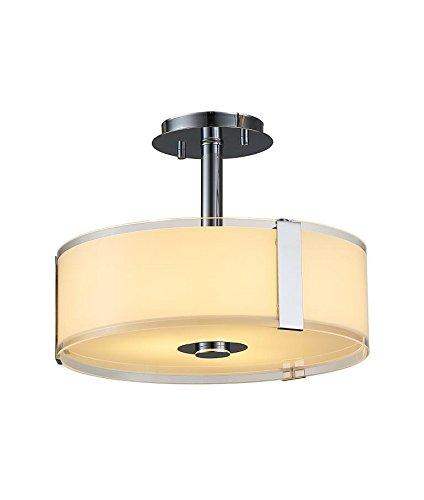 Price comparison product image Ove Decors Bailey II Integrated Ceiling Semi-Flushmount Light Fixture
