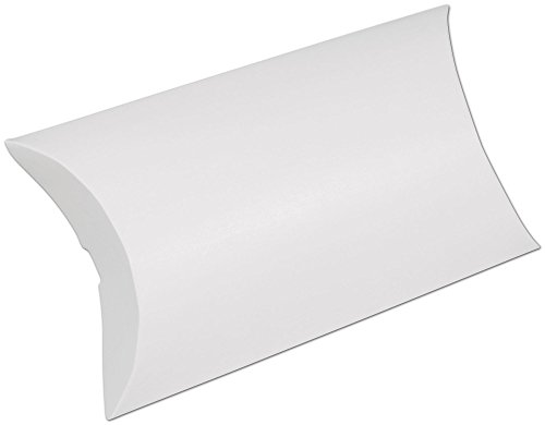 White Pillow Boxes, 7 x 5 1/2 x 2'' (250 Boxes) - BOWS-255-070502-9 by Miller Supply Inc