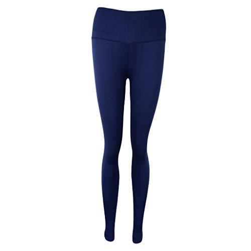P Prettyia Pantalones de Mujer Deportes Entrenamiento Gimnasio Atlético Transpirable Placer Personal azul marino