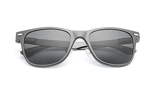 Gafas de arroz Vintage Sol de de Unisex de JCH Gray gray Protección UV Sol clásicas polarizadas uñas Gafas xY7Fw0qB