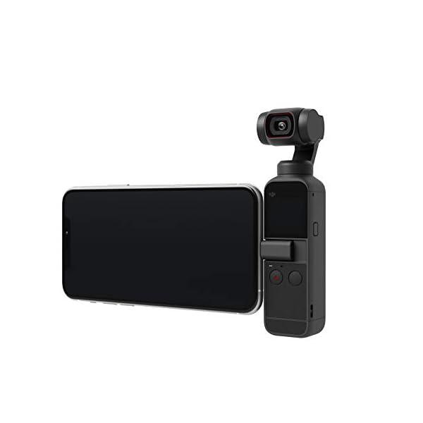 "DJI Pocket 2 Fotocamera Stabilizzata 3 Assi, Vlog, Video Ultra HD, Foto ad Alta Risoluzione da 64 MP, 1/1.7"" CMOS, Riduzione del Rumore, Timelapse, Slow Motion, Zoom 8x, Livestreaming 4 spesavip"