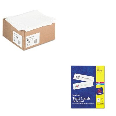 KITAVE5305TCO31108 - Value Kit - Tatco Paper Table Cover (TCO31108) and Avery Medium Embossed Tent Cards (AVE5305)