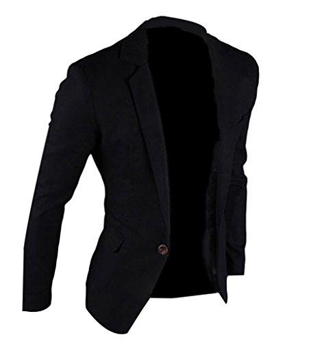 Suit Nero Uomo Abito Da Eozy Blazer Lunga giacca Casual Manica qOYBan
