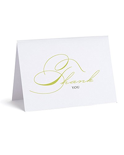 Canyon Greeting Cards - Green Script Thank You Cards