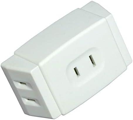 Koolatron Multi Plug Wall Outlet Extender, Mini 3 in 1 Plug for Travel, Home, Office (White)