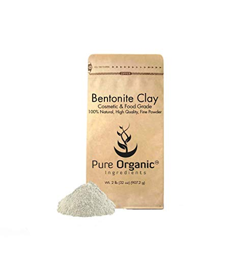 Bentonite Clay (2 lb.) by Pure Organic Ingredients, Eco-Friendly Packaging, Fine Powder, Cosmetic & Food Grade, For Face Masks, Cleanses