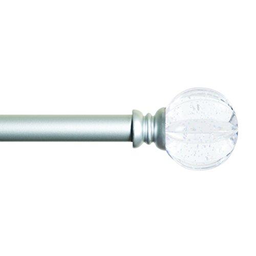 UPC 042437341844, Kenney Estrella 28 to 48-Inch Kids Window Curtain Rod with Glitter, Clear/Satin Nickel