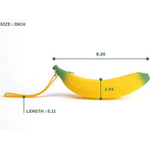 Interesting® Silikon-beweglicher Bananen-Münzen-Bleistift-kosmetischer Verfassungs-Fall-Geldbeutel-Beutel-Mappe