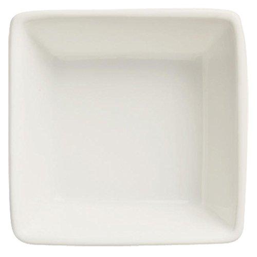 World Tableware Slate Collection Porcelain Ultra Bright White Square Dipping Bowl, 2.75 Ounce -- 36 per case.