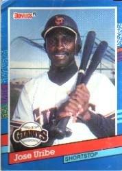 Amazoncom 1991 Donruss Baseball Card 375 Jose Uribe