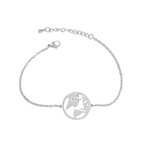 p Round Pendant Women Adjustable Chain Bracelet Party Jewelry Charm Silver ()