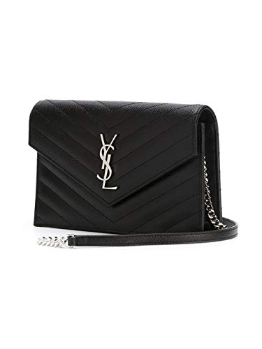 6ec32452c4 Yves Saint Laurent Black leather box monogram crossbody bag New  Handbags   Amazon.com