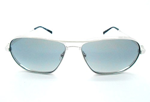 Matsuda M3028 Shiny Silver Aviator Style Polarized Sunglasses