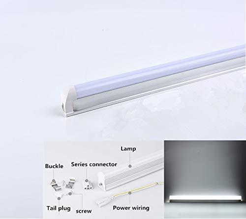 Ocamo LED Fluorescent Tube Wall Lamp 180-265V LED 60cm LED Tube T5 Integrated Light White Light 6500K