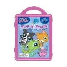 Littlest Pet Shop Playtime Friends Book & Magnetic Play Set [With 3 Double-Sided Play Scenes and 3 Magnetic Sheets with Over 100 Magnets]