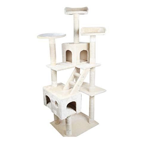 Albero di gatto Giocattolo della Piattaforma di Salto di Lusso del Gatto di Legno Solido del Gatto del Centro di attività