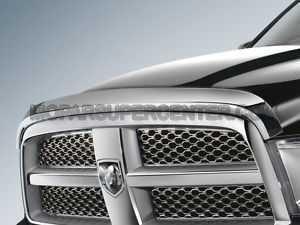 2011 2012 DODGE RAM 2500 3500 4500 CHROME FRONT AIR DEFLECTOR MOPAR FACTORY ()