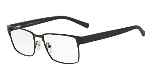Armani Exchange AX1019 Eyeglass Frames 6063-54 - Matte Black AX1019-6063-54