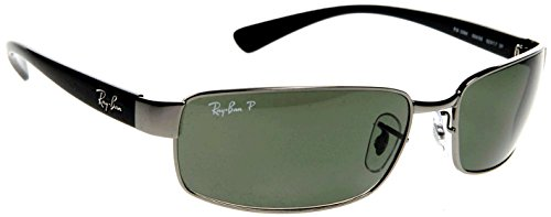 Ray-Ban Polarized Sunglasses RB 3379 004/58 64mm + SD Glasses + Cleaning - Rayban 3379