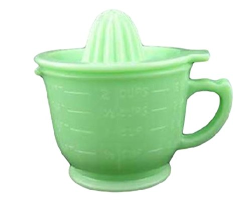 UPC 634173305374, G3138J Jadeite Green Glass 2 Cup Capacity Jadite Measuring Cup Pitcher with Juicer Lid