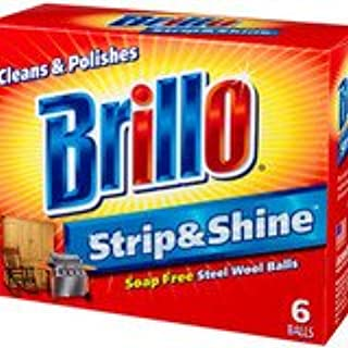 product image for Brillo Strip and Shine Steel Wool Balls, 6 Count 3-Pack