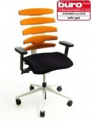Silla de escritorio Sitag Wave naranja/blanco