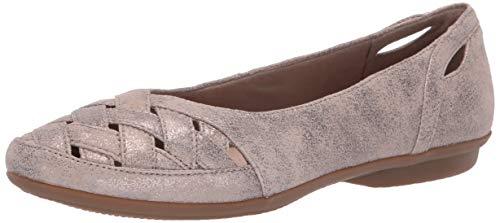 CLARKS Women's Gracelin Maze Loafer Flat, Pewter Suede, 090 M US