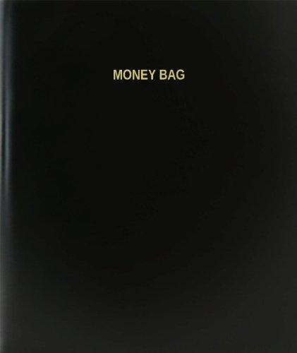 BookFactory® Money Bag Log Book / Journal / Logbook - 120 Page, 8.5''x11'', Black Hardbound (XLog-120-7CS-A-L-Black(Money Bag Log Book)) by BookFactory