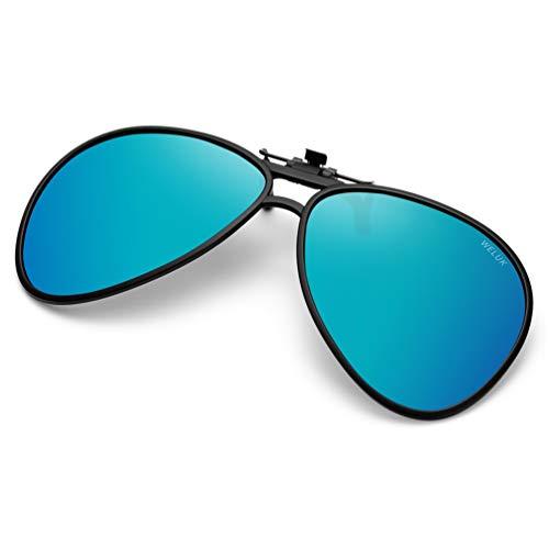 - WELUK Polarized Clip-on Flip up Sunglasses for Prescription Glasses