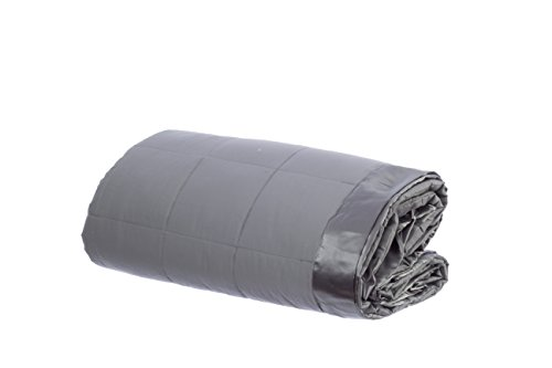 Design Weave All Season Temperature Regulating Hypoallergenic Blanket - 300 Thread Count, 100% Cotton Sateen Weave, Queen, Stone Gray