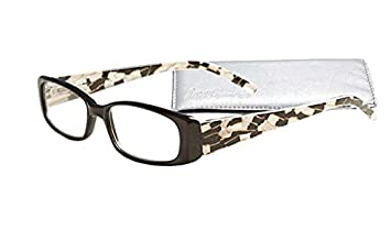 "ed776b57b242 Image Unavailable. Image not available for. Color: ""Fancy  Temples"" Women's Reading Glasses with Soft Case ..."