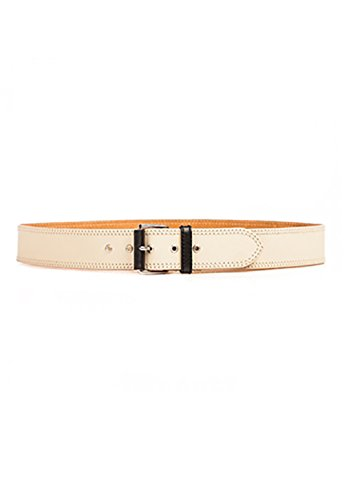 Linea Pelle Hip Belt (Linea Pelle Colorblock Hip Belt in Vanilla)
