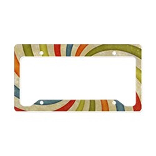 CafePress - Psychedelic Retro Swirl - Aluminum License Plate Frame, License Tag ()