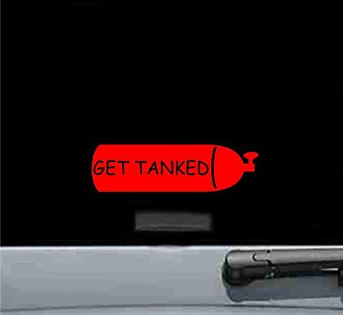 Get Tanked Vinyl Decal Sticker (RED)