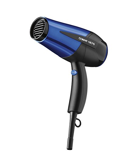 Price comparison product image Conair 1875 Watt Turbo Hair Dryer; Black / Blue