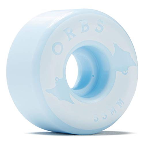 Welcome Orbs Specters Conical 100A Solids Skateboard Wheels - Powder Blue - 53mm (Welcome Skateboards Wheels)