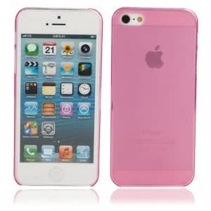 Ultra-thin ( 0.5mm ) Dull Polish Protective Case for iPhone 5/5S Rose Red