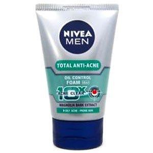 NIVEA MEN TOTAL ANTI-ACNE OIL CONTROL COOLING MUD FOAM 100 ML (Face Wash Moisturizing Men)