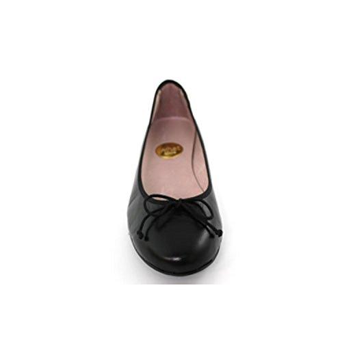 Chaussures plates des femmes plates Calzados España en noir