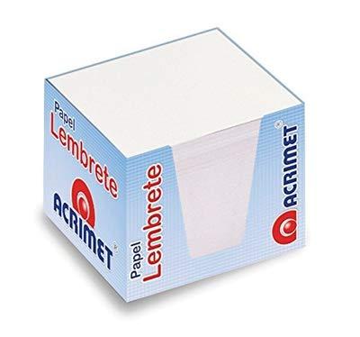(Acrimet Memo Paper Cube (750 sheets) (White Color) (Also a Refill for Acrimet Desk Organizer))