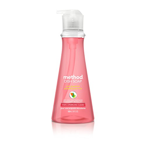 Method Dish Soap, Pink Grapefruit, 18 Ounce (6 Count)