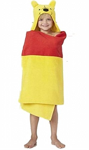 Disney Winnie the Pooh Hooded Bath Towel Wrap 25 Inches X 50 Inches by Jumping Beans