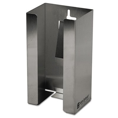 San Jamar G0801 Stainless Steel Disposable Glove Dispenser, Single-Box, 5 1/2w x 3 3/4d x -